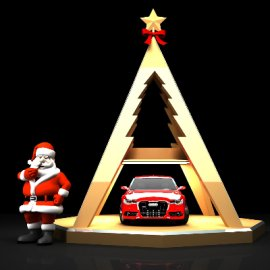 圣诞节汽车模型美陈