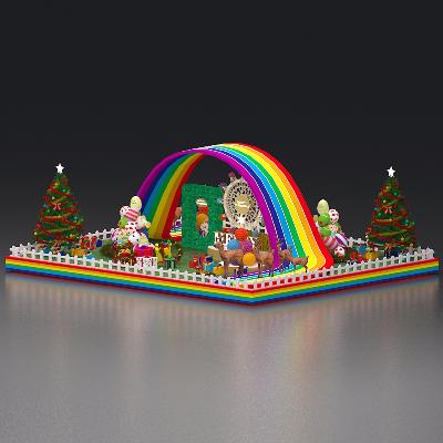 大型圣诞美陈设计3d模型
