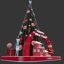 圣诞节商场美陈3D模型