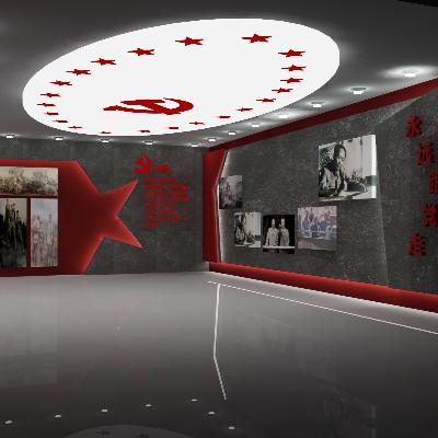 党建文化展示厅形象墙
