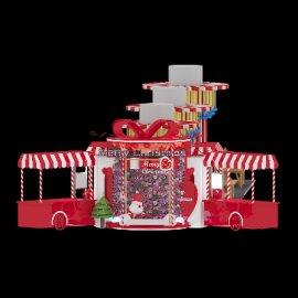 小餐车圣诞风格桌椅展台美陈设计