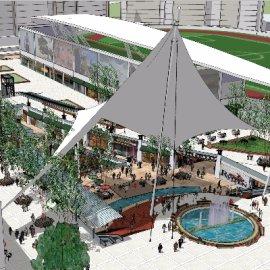 现代商业广场sketchup模型