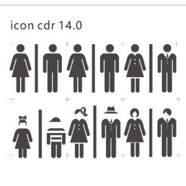 六套不同风格卫生间标识图片