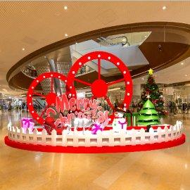 圆形商场圣诞美陈设计
