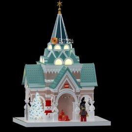圣诞节城堡美陈设计