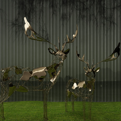 铁艺鹿装饰雕塑