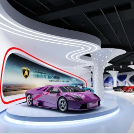 时尚炫酷简约汽车跑车展厅