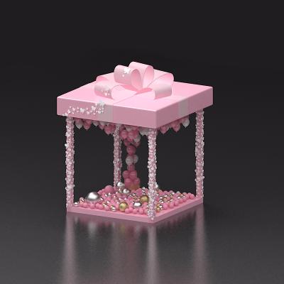 粉色礼盒少女心美陈装饰设计