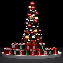圣诞节DP小景模型