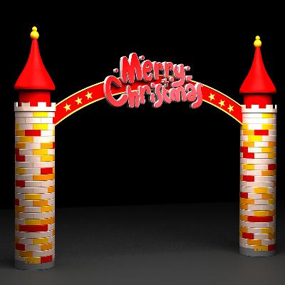 城堡样式门头圣诞装饰