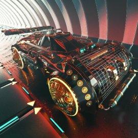 C4D酷炫汽车模型