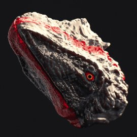 c4d恐龙头部模型