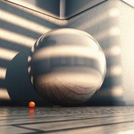 C4D巨型玻璃钢球模型