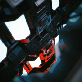 C4D未来科技金属感模型