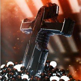 C4D金属质感十字架模型