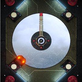 C4D科技风机械硬盘活动门音乐播放器模型