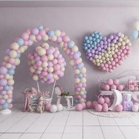 粉色气球网红打卡美陈