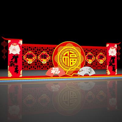 2019猪年春节街景美陈装饰布置
