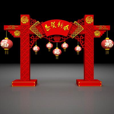 2019春节门头装饰美陈布景