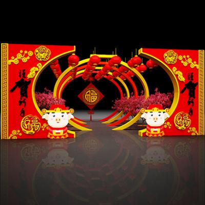 2019猪年春节美陈装饰街景布置