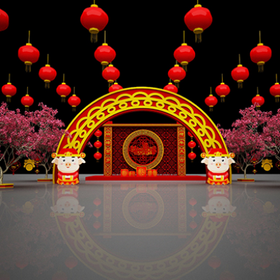 2019春节街景装饰美陈布景