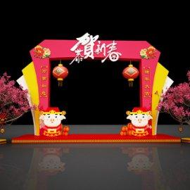 猪年春节商场门头装饰