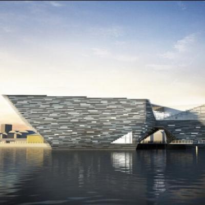 现代主义风格2层博物馆模型