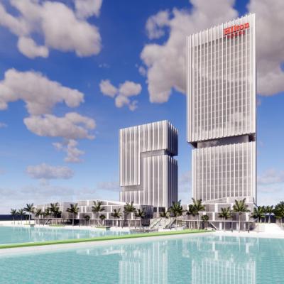 现代主义风格28层酒店模型