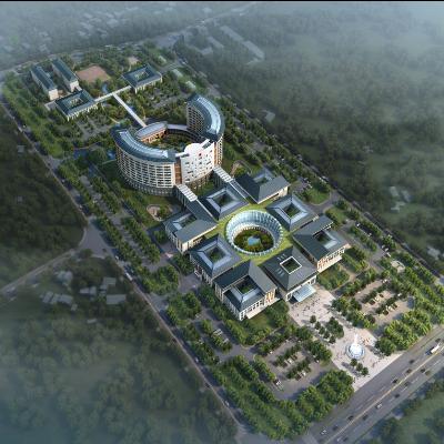 现代主义风格江西兴国县10层人民医院