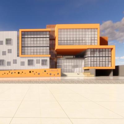 现代主义风格华润 4层大涌幼儿园模型