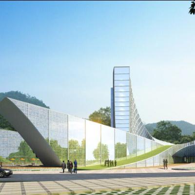 现代主义风格展览馆模型