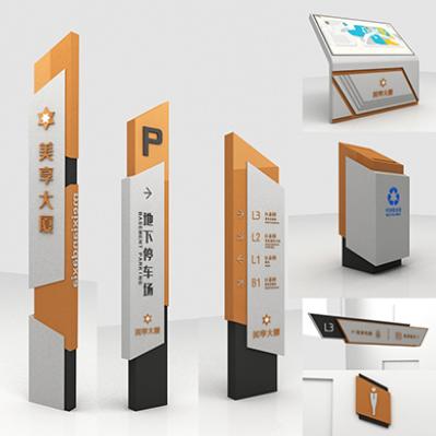 商业广场标识导视系统设计