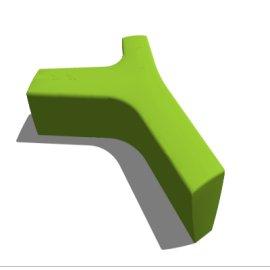 绿色Y形室内休闲座椅素材