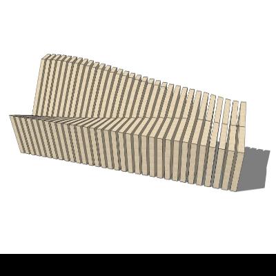 异形镂空长椅SU模型