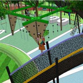 儿童活动场地系列-1 户外游乐设备亲子攀爬