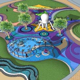 儿童活动场地系列-3 章鱼游乐设施喷泉戏水
