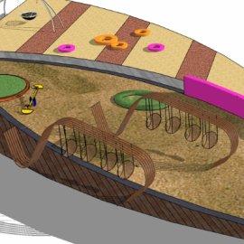 儿童活动场地系列-8 户外游乐设备亲子攀爬