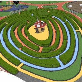 儿童活动场地系列-10 户外游乐设备亲子迷宫