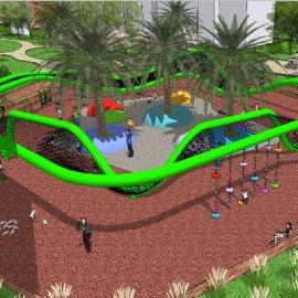 儿童活动场地系列-11 户外游乐设备亲子攀爬