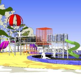 儿童活动场地系列-12 户外游乐设备亲子攀爬