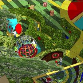 儿童活动场地系列-14 户外游乐设备亲子种植