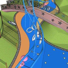 儿童活动场地系列-17 户外游乐设备亲子攀爬