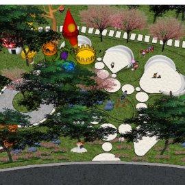 儿童活动场地系列-24 户外游乐设备亲子城堡