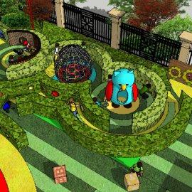 儿童活动场地系列-27 户外游乐迷宫