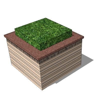 绿植景观花台sketchup素材