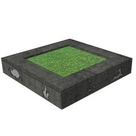 灰砖配动物形状绿植花坛