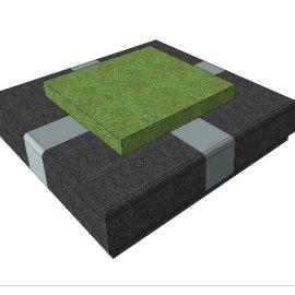 正方形景观绿植花台SU模型