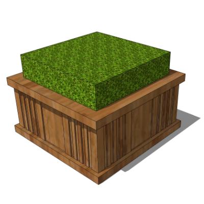 木质绿植种植池