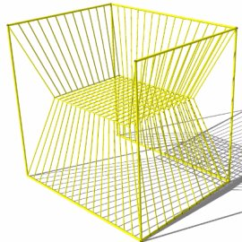 极简线条编织座椅su模型