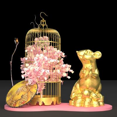 鼠年春节美陈